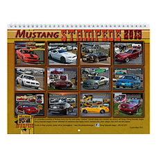 2013 Mustang STAMPEDE Wall Calendar