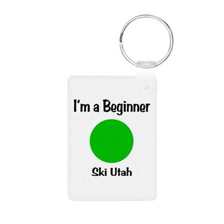 Beginner Ski Utah Aluminum Photo Keychain
