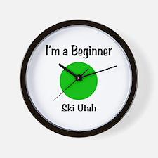 Beginner Ski Utah Wall Clock