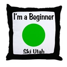 Beginner Ski Utah Throw Pillow