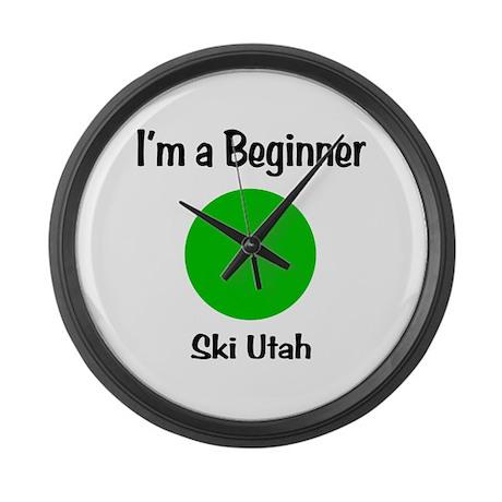 Beginner Ski Utah Large Wall Clock