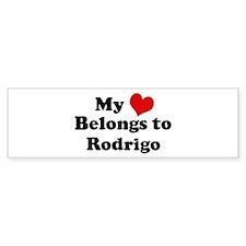 My Heart: Rodrigo Bumper Stickers