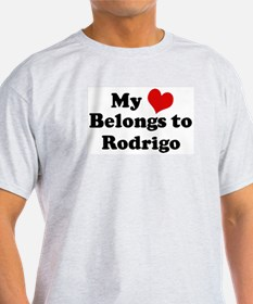 My Heart: Rodrigo Ash Grey T-Shirt