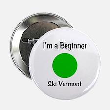 """Beginner Ski Vermont 2.25"""" Button"""