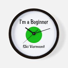 Beginner Ski Vermont Wall Clock
