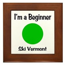 Beginner Ski Vermont Framed Tile