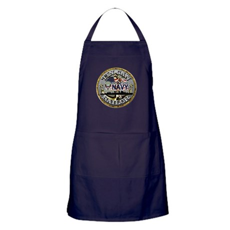 USN Tin Can Sailor Babe Apron (dark)