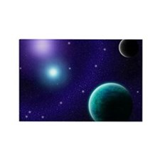 Blue-Purple Starscape Rectangle Magnet (10 pack)