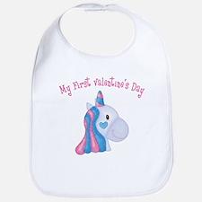 Unicorn 1st Valentine Bib