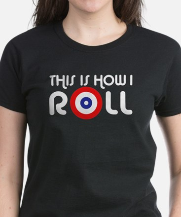 This Is How I Roll Curling Women's Dark T-Shirt