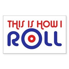 This Is How I Roll Curling Decal