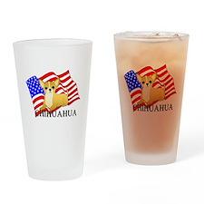 Chihuahua USA Drinking Glass