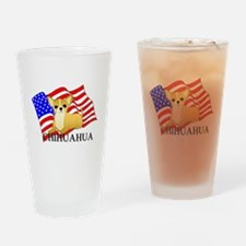 Chihuahua USA Drinking Glass
