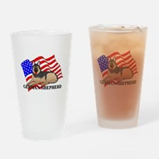 German Shepherd USA Drinking Glass