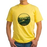 Airplane Mens Yellow T-shirts