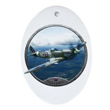 Cute World war ii plane Ornament (Oval)
