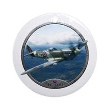 Cute World war ii plane Ornament (Round)