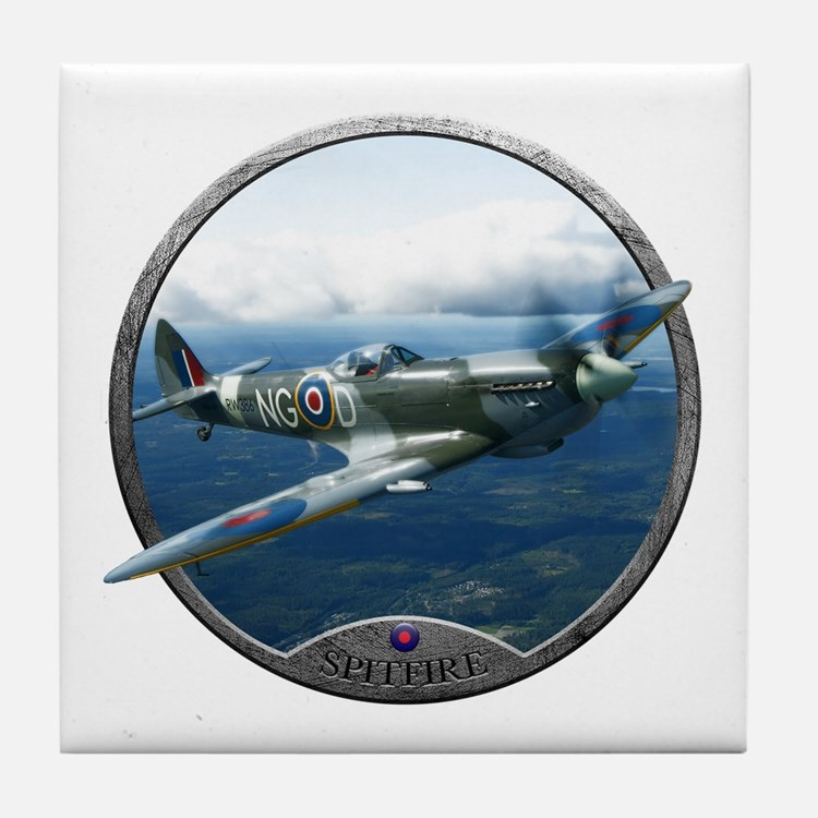 Cute Spitfire Tile Coaster