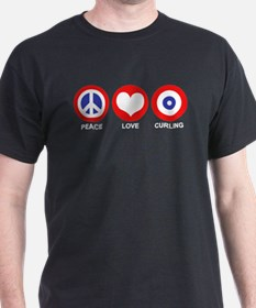 Peace Love Curling T-Shirt