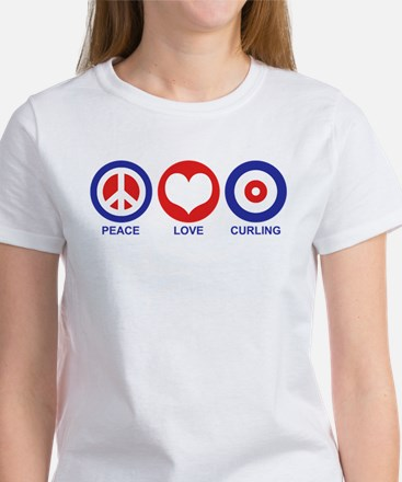 Peace Love Curling Women's T-Shirt
