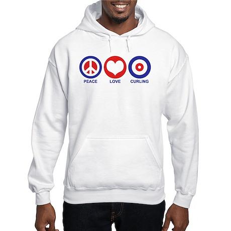 Peace Love Curling Hooded Sweatshirt