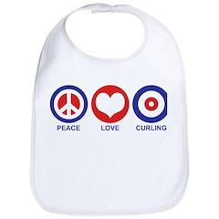 Peace Love Curling Bib
