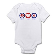 Peace Love Curling Infant Bodysuit