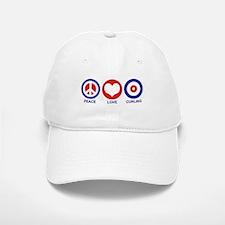 Peace Love Curling Baseball Baseball Cap