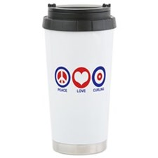 Peace Love Curling Travel Mug