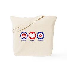 Peace Love Curling Tote Bag