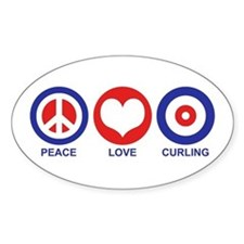 Peace Love Curling Decal