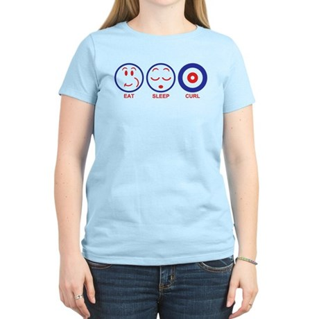 Eat Sleep Curl Women's Light T-Shirt