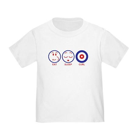 Eat Sleep Curl Toddler T-Shirt