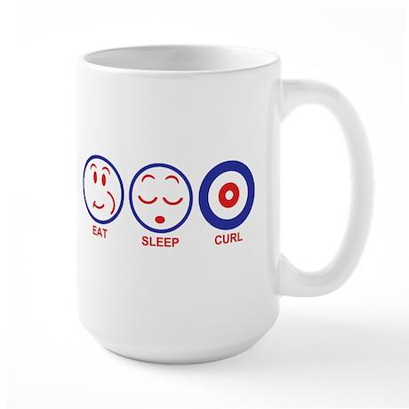 Eat Sleep Curl Large Mug