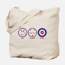 Eat Sleep Curl Tote Bag