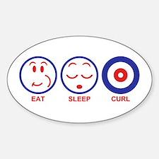 Eat Sleep Curl Decal