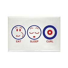 Eat Sleep Curl Rectangle Magnet