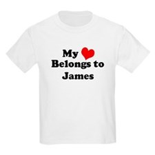 My Heart: James Kids T-Shirt