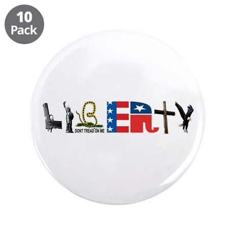 """Liberty 3.5"""" Button (10 pack)"""