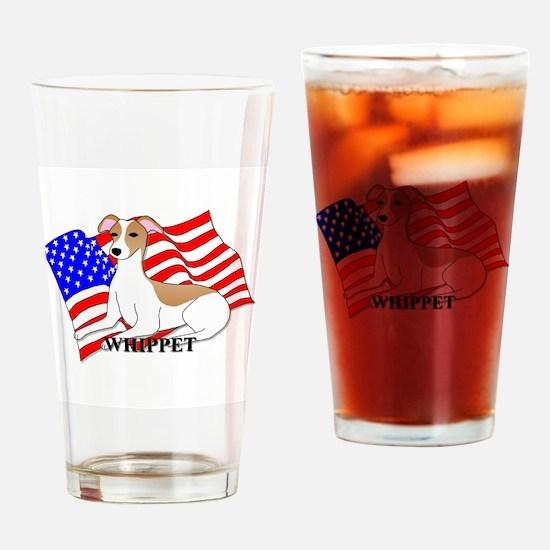 Whippet USA Drinking Glass