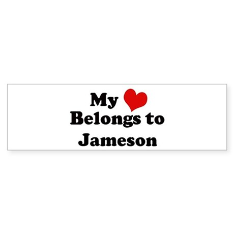 My Heart: Jameson Bumper Sticker