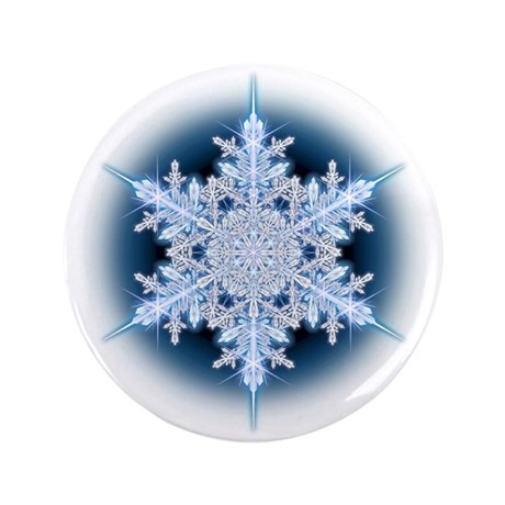 "Snowflake 32 3.5"" Button (100 pack)"