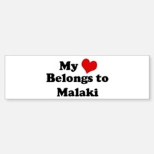 My Heart: Malaki Bumper Car Car Sticker
