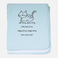 Soft Kitty in Binary baby blanket