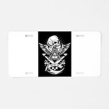 Freemason Skull Aluminum License Plate
