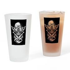 Freemason Skull Drinking Glass