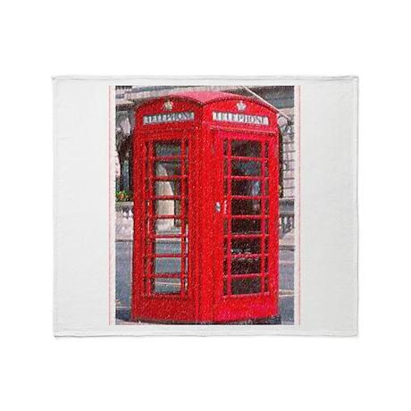 British Phone Booth Throw Blanket