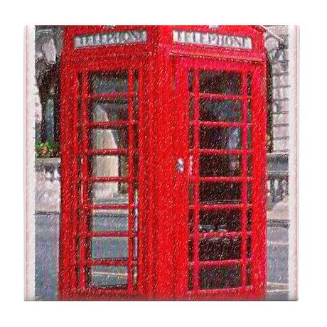 British Phone Booth Tile Coaster