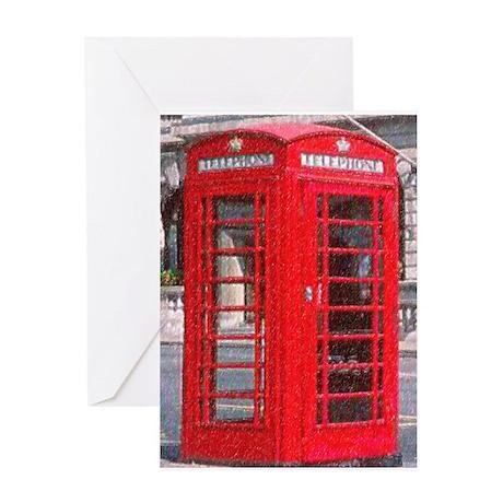 British Phone Booth Greeting Card