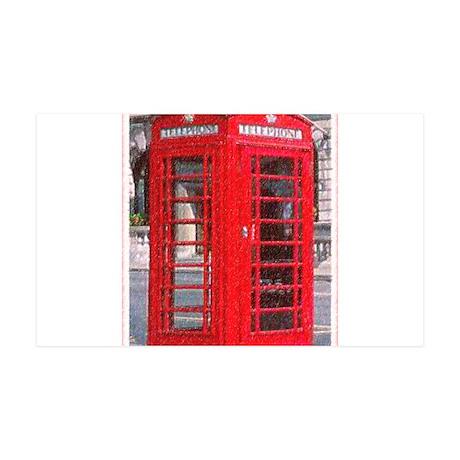 British Phone Booth 38.5 x 24.5 Wall Peel